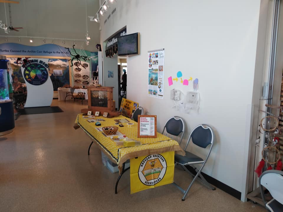 Brevard Backyard Beekeepers often provide education and information at community events.  Creature Fest at Brevard County Barrier Island Center on 10/05/2019 is just one of them.