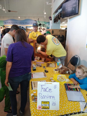 Brevard Backyard Beekeepers are very enthusiastic about sharing our knowledge and expertise.  At Creature Fest, an observation hive is used to show the different stages of the bee life cycle.  If you are lucky, a member will also bring the Queen bee in the observation hive for you to look at.  She is spectacular!